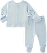 Absorba Blue Elbow-Patch Top & Footie Pants - Infant
