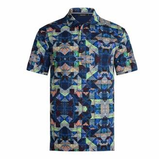 Bugatchi Men's Short Sleeve Three Button Polo