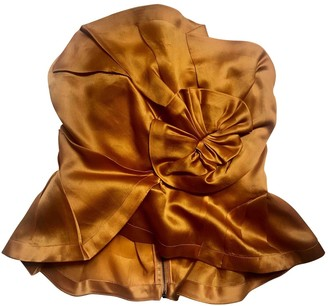 Willow Orange Silk Top for Women