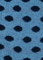 Paul Smith Women's Light Blue Fluffy Polka Dot Socks