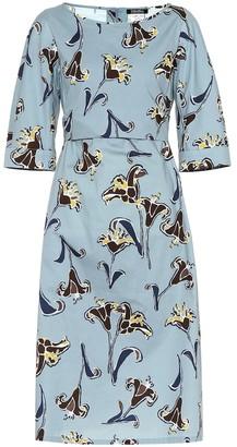 Max Mara S Ragno floral stretch cotton dress