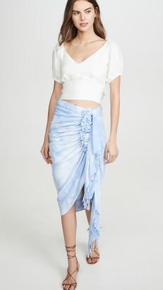 Just BEE Queen Ombre Printed Tulum Skirt