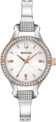 Bulova Women's Crystal Bracelet Watch, 27mm