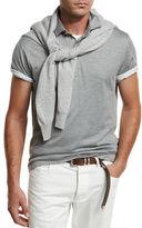 Brunello Cucinelli Silk Jersey Polo Shirt