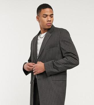 Reclaimed Vintage blazer in gray stripe