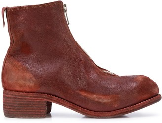 Guidi Distressed Ankle Boots