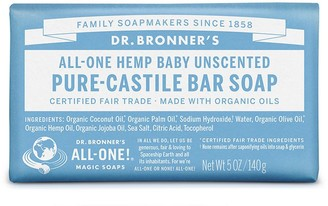 Dr. Bronner's All-One Baby Unscented Pure-Castile Bar Soap 140G