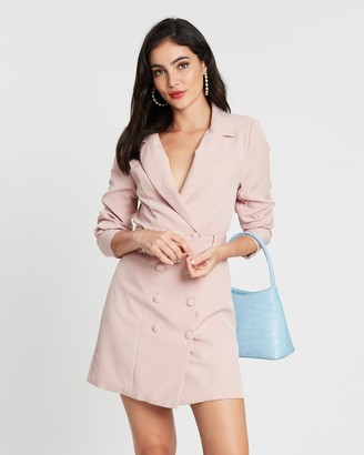 Missguided Belted Blazer Dress