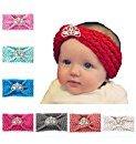 Baby's hair band Baby Girl Crystal Pearl Crystal Crown Princess Headband (Watermelon Red)