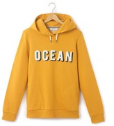 La Redoute Collections Printed 'Ocean' Slogan Hoodie, 10 - 16 Years