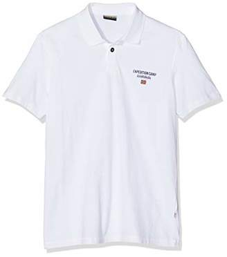 Napapijri Men's Eonthe Polo Shirt, (Bright White 002), Large (Size: XXX)