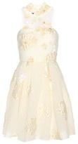 Fendi Embellished wool and silk-blend cloqué dress