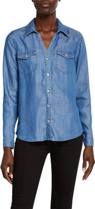 Nicole Miller Chambray Button-Down Shirt