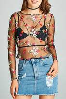 Minx Sheer Floral Blouse