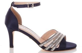 Dorothy Perkins Womens Quiz Navy Diamante Mid Heel Sandals