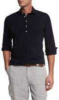 Brunello Cucinelli Piqué Long-Sleeve Polo Shirt