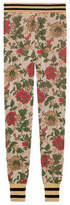 Gucci Lurex rose jacquard legging