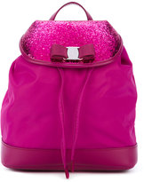 Salvatore Ferragamo Kids - glitter drawstring backpack - kids - Leather/Polyester - One Size
