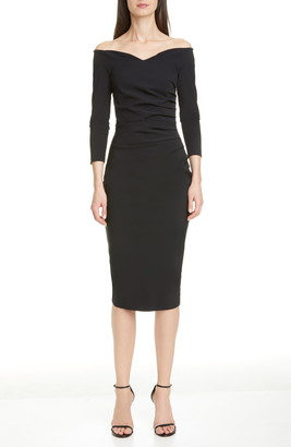 Chiara Boni Suzie Off the Shoulder Cocktail Dress