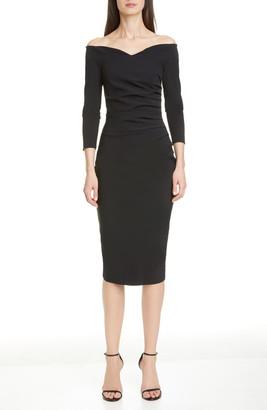 Chiara Boni Suzie Off the Shoulder Cocktail Dress