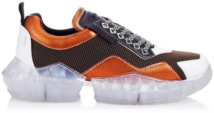 52e10b1b274 DIAMOND/M Amber Mesh and Leather Mix Trainers with Chunky Platform