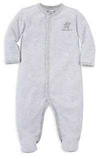 Ralph Lauren Unisex Bear Striped Footie - Baby