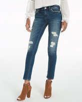 White House Black Market Distressed Girlfriend Jeans