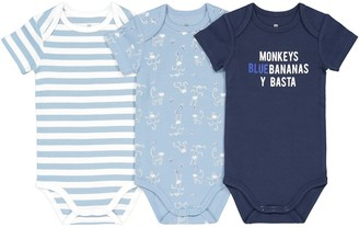 La Redoute Collections Pack of 3 Bodysuits in Organic Cotton, Birth-3 Years