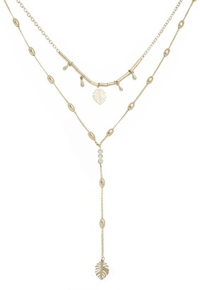 Ettika Layered Palm Lariat Necklace