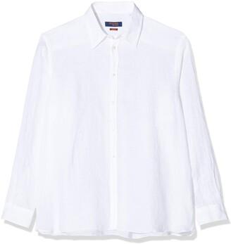 Trussardi Jeans by Men's Shirt Italian Collar Yarn Dyed Casual