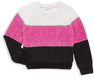 Design History Little Girl's Colorblock Cropped Sweater