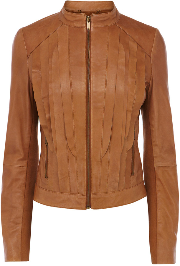 Oasis Cleanline Leather Blazer