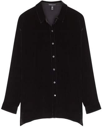 Eileen Fisher Black Velvet Shirt