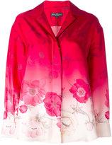 Salvatore Ferragamo ombré floral shirt - women - Silk - 44