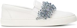 Tory Burch Logan embellished slip on sneakers