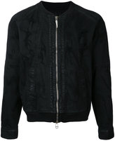 Fagassent - distressed effect bomber jacket - men - Cotton/Polyurethane - 3