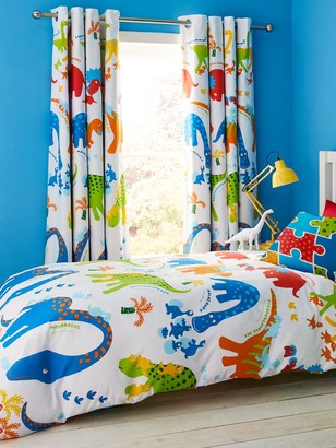 Catherine Lansfield Dino-Saw Blackout Eyelet Curtains