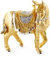 Jay Strongwater Gilded Nativity Donkey Figurine
