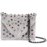 Elena Ghisellini jewel studded clutch bag