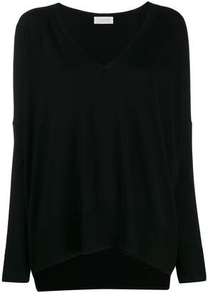 Zanone oversized long-sleeve sweater