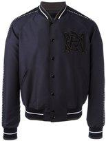 Alexander McQueen insignia bomber jacket - men - Nylon/Viscose/Wool - 46