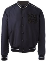 Alexander McQueen insignia bomber jacket - men - Nylon/Viscose/Wool - 48