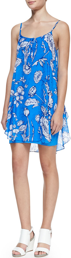 Alice + Olivia RHI TIERED HEM TANK DRESS
