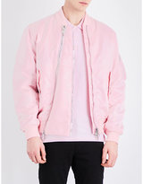 Givenchy Zip-detailed Satin Bomber Jacket