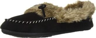 Acorn Women's Cozy Faux Fur Moc Slipper Black L Standard US Width US
