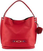Longchamp 3D Massai Medium Leather Tote Bag, Red