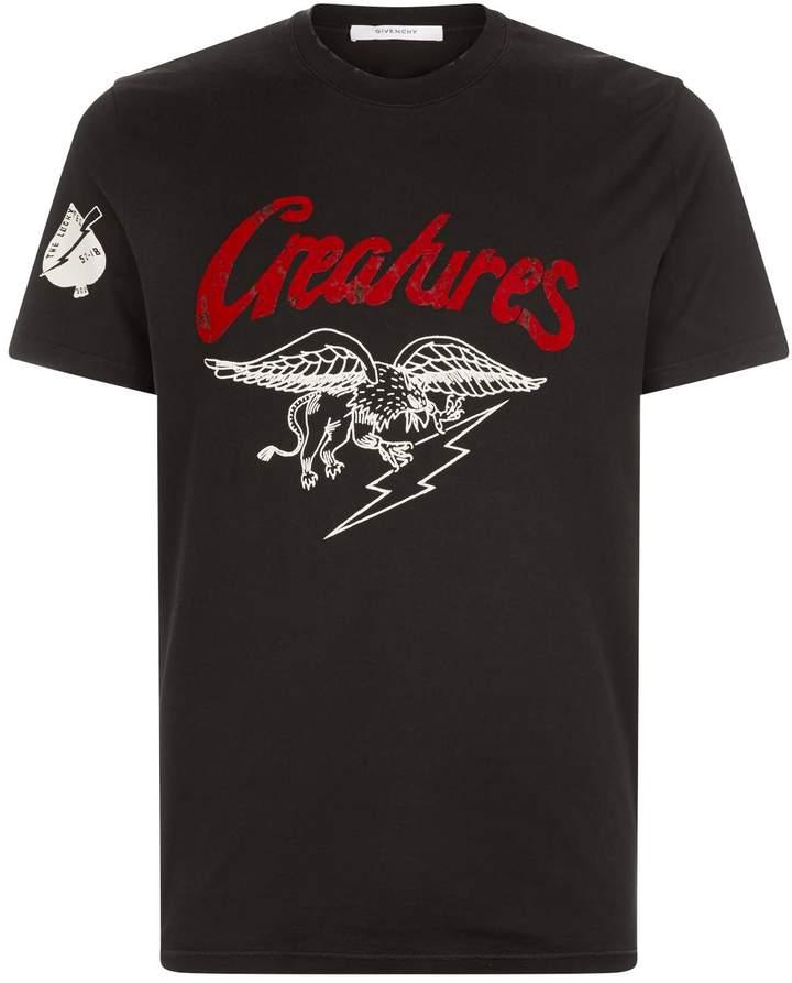 Givenchy Creatures Slogan Printed T-Shirt