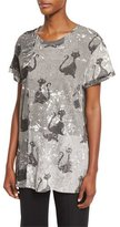 Marc Jacobs Patchwork Cat-Print Tee, Gray/Multi