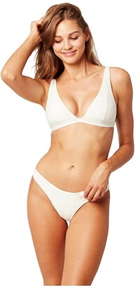 L-Space Echo Chic Off the Grid Nina Top (Cream) Women's Swimwear