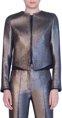 Akris Punto Iridescent Crop Jacket